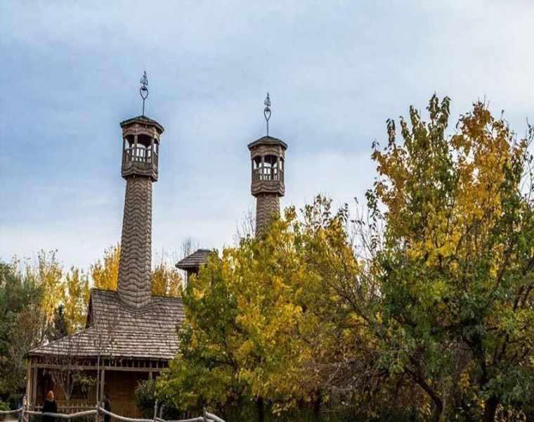 دهکده چوبی نیشابور، یکی از زیباترین مساجد ایران